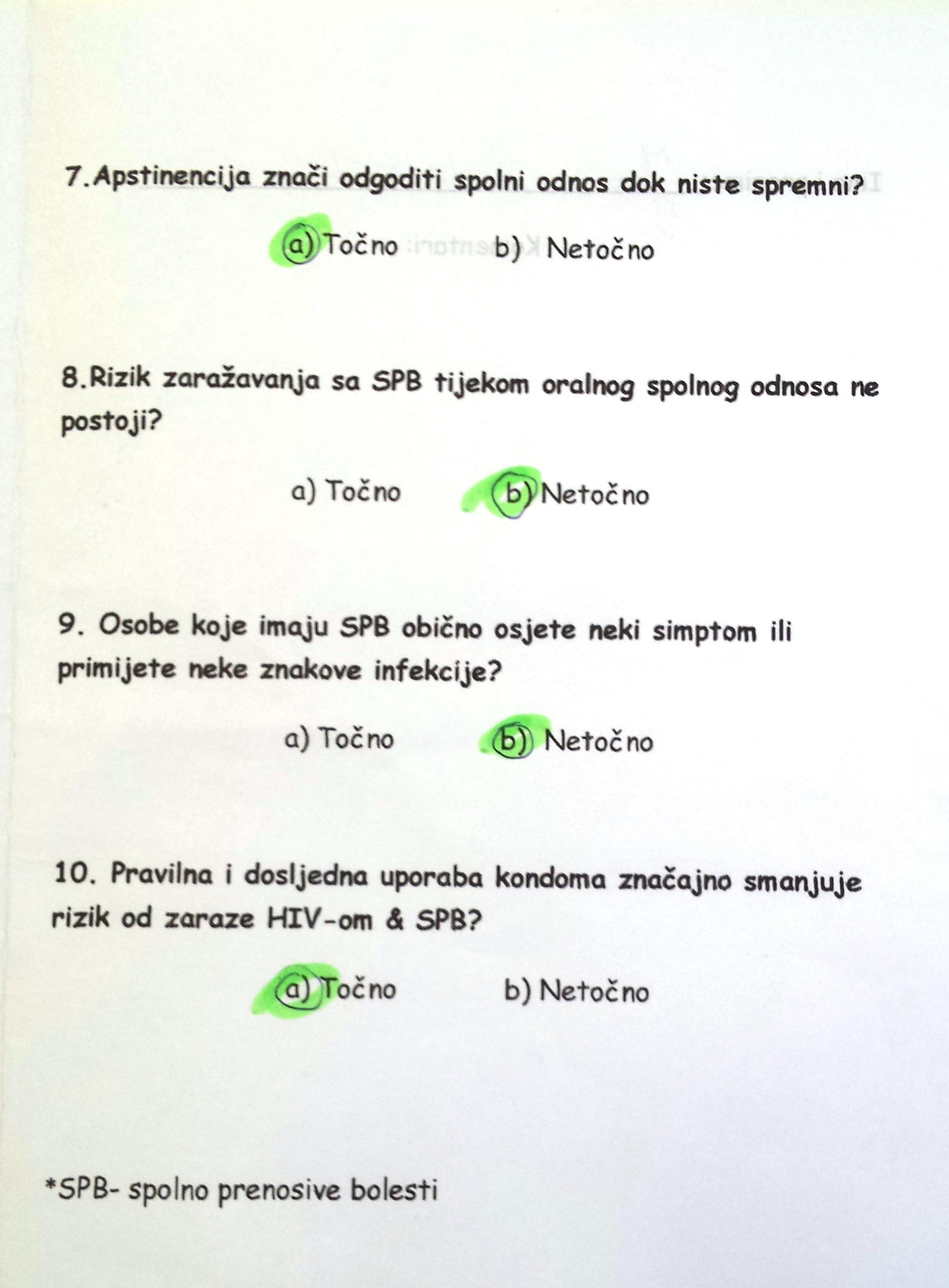 Dating test pitanja
