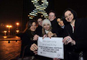 Osvijetljena Zagrepcanka povodom Svjetskog dana AIDS-a 2014